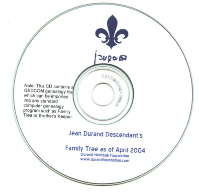 durand, family tree, canada, geneology, heritage, durand heritage foundation, newsletter, french canadian, books, cds, dvds, gedcom, jean durand