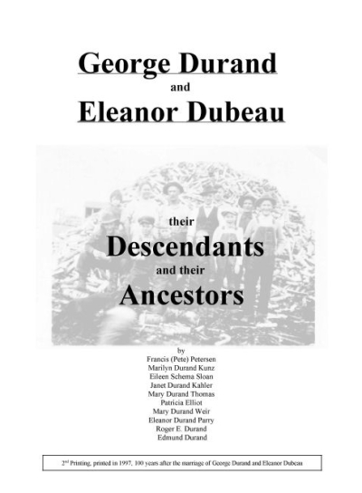 durand, family tree, canada, geneology, heritage, durand heritage foundation, newsletter, french canadian, books, cds, dvds, george durand, eleanor dubeau