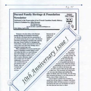 durand, family tree, canada, geneology, heritage, durand heritage foundation, newsletter, french canadian, membership