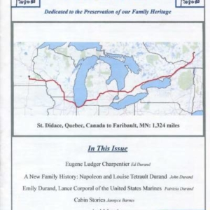 durand, family tree, canada, geneology, heritage, durand heritage foundation, newsletter, french canadian, membership, eugene ludger charpentier, ed durand, napoleon durand, louise tetrault durand, john durand, emily durand, patricia durand, jannyce barnes