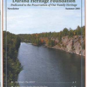 durand, family tree, canada, geneology, heritage, durand heritage foundation, newsletter, french canadian, membership, wisconsin, minnesota, wi, mn, jean durand